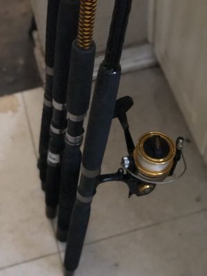 Fishing rods for sale ,reel was sold .....2 spinning rods and 2 conventional rods send message for price for Sale in Miami, FL
