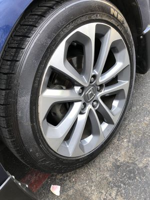 Rims and tires 18x8 5x114 fit Honda Acord sport civic Acura CRV for Sale in Santa Ana, CA