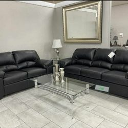 Brazoria Black Living Room Set (LOVESEAT AND SOFA) by Ashley for Sale in Greenbelt,  MD
