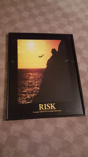 Risk inspirational poster for Sale in North Las Vegas, NV