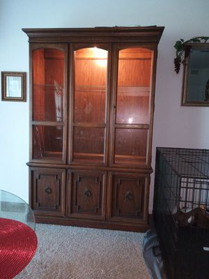China cabinet for glass displays or collectibles for Sale in Lake Wales, FL