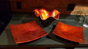 Burnt orange/red flower bowl/vase decor for Sale in Douglasville, GA