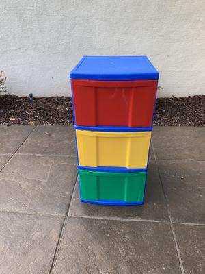 Kids 3 Drawer Plastic Storage Bin for Sale in Carlsbad, CA
