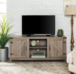"Modern, Rustic Farmhouse Barn Door TV Stand for TV's up to 64"" - Multiple Finishes for Sale in Los Angeles, CA"