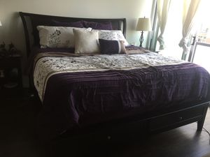 Six Piece King Bed Set Cherry Wood for Sale in Chicago, IL