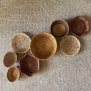 ‼️8-Piece Boho Wicker Basket Wall‼️ for Sale in Edgar, WI