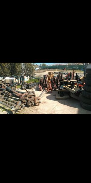 Mobile home office trailer axles tires stands piers jacks for Sale in Perris, CA