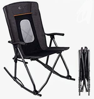 New PORTAL Oversized Quad Folding Camping Chair High Back Hard Armrest Storage Pockets Carry Bag Included, Support 300 lbs (Grey) for Sale in Hesperia, CA