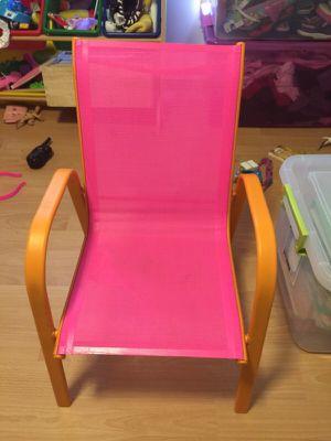 Pink little kids patio chair for Sale in Scottsdale, AZ