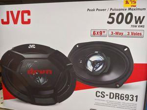 Car Speakers : JVC 6×9 3 way 500 watts car speakers pair new for Sale in Bell Gardens, CA