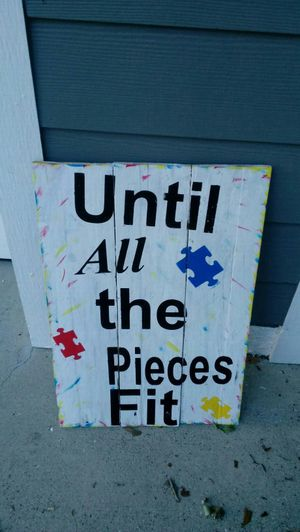 Painted autism pallet sign for Sale in Lakeland, FL