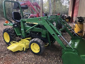 4x4 750 John deer diesel tractor with loader and belly mower. Drives good for Sale in Hockley, TX