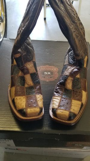 Corral boots patchwork Ostrich 10.5D for Sale in Amarillo, TX