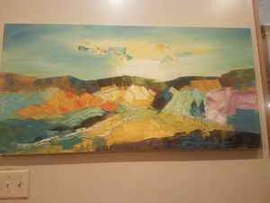 Original painting. Abstract landscape. for Sale in Duncanville, TX
