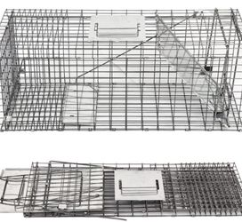 "New Live Animal Cage Trap 32"" X 12.5"" X 12"" w/Iron Door Steel Cage Catch Release Humane Rodent Cage for Rabbits, Stray Cat, Squirrel, Raccoon, Mole, G for Sale in Whittier,  CA"