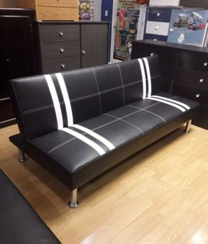 Brand new faux leather futon/ sleeper sofa for Sale in Silver Spring, MD