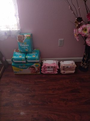 Size 2&3. 6 packs of wipes for Sale in Spring, TX