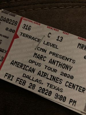 Marc Anthony concert for Sale in Arlington, TX
