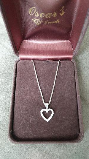 Real white Gold HEART Diamonds necklace for Sale in Wheaton, IL