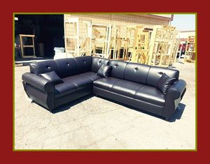 "new 7x9 ft ""Brown leather"" sectional couches for Sale in Los Angeles, CA"