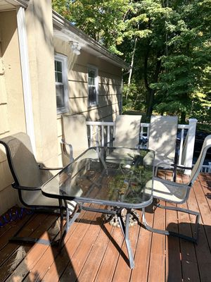 Outdoor Dining Set 6 Chairs and Table for Sale in The Bronx, NY