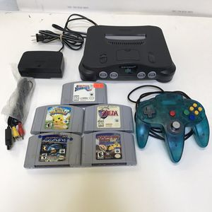 Nintendo 64 n64 system console with 5 games and controller for Sale in Rockville, MD