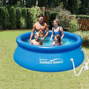 "Summer Waves 8ft x 30"" Inflatable Above Ground Pool with Filter Pump for Sale in Portland, OR"