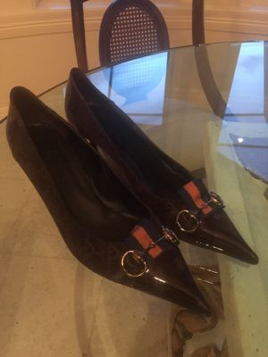 Gucci shoes heels suede leather for Sale in West Palm Beach, FL