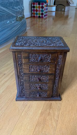 Handmade wooden jewelry box for Sale in Charlottesville, VA
