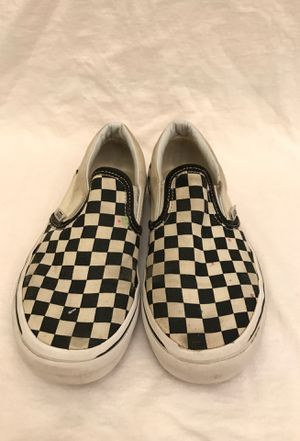 Kids Black and White Checkered Vans for Sale in Holtville, CA