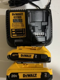 Dewalt Two (2ah) Batteries & Charger for Sale in Portland,  OR