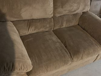Beige loveseat good condition does have some small tears on lower arm for Sale in LaGrange,  OH