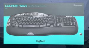 Logitech - MK570 Comfort Wave Wireless Keyboard and Optical Mouse - Black for Sale in Valrico, FL