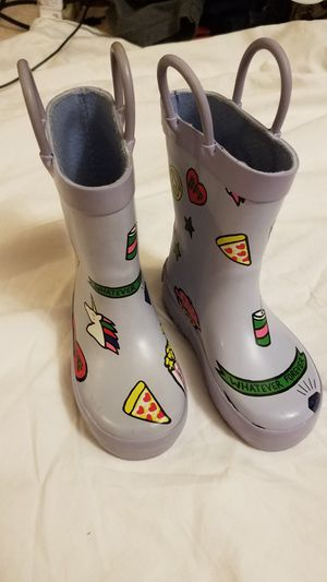 Size 6 baby toddler girl rain boots. Like new! for Sale in Scottsdale, AZ