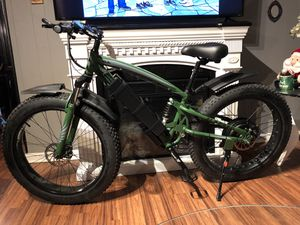 New FAST custom eBike, 1500w motor 54v lithium battery electric bicycle cruiser mountain bike downhill fat tire full suspension for Sale in Garden Grove, CA
