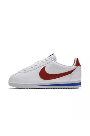 "100% Authentic Guaranteed Brand New With No Box. Nike Classic Cortez OG Leather ""Forrest Gump"" White & Red & Royal Blue Womens Shoes Sz 5.5 NEW 8074 for Sale in Dundalk, MD"