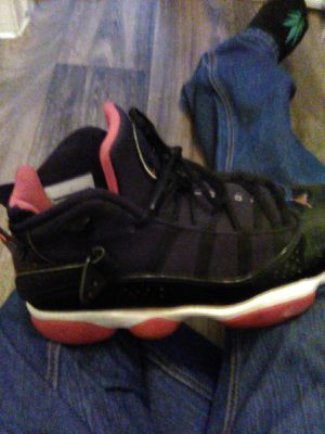 Blk/Wht/Red 6Rings Jordan's size 8 (roughly 9 1/2 for most o shoe for Sale in Phoenix, AZ