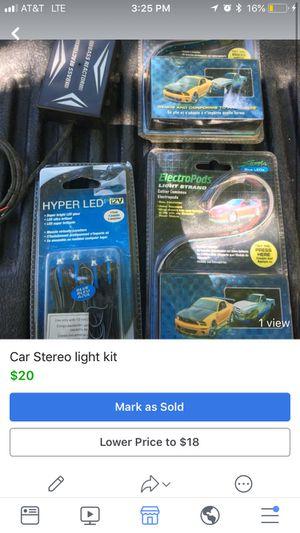 Car stereo led light kit for Sale in Annandale, VA