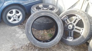 """4 V-TEC 394 Warlord Black 22"""" rims and tires for Sale in Danvers, IL"""