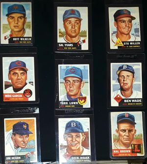 1953 TOPPS VINTAGE BASEBALL CARDS for Sale in Turlock, CA