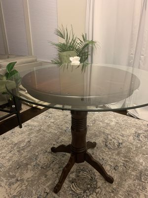 "Ronan Collection Counter Height round table with 48"" round tempered glass table top for Sale in Durham, NC"