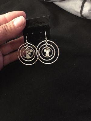 Silver dangling hoop earrings for Sale in Brandon, FL