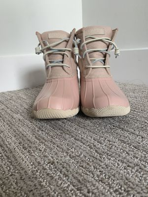 Pink Women's Sperry Duck Boots, Brand New, Size 8 for Sale in Kansas City, MO