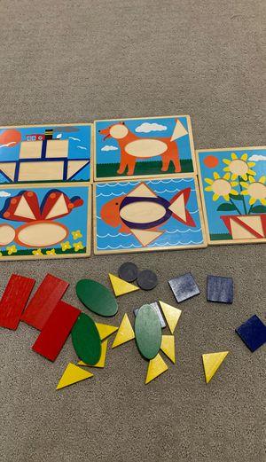 Melissa and Doug beginner pattern blocks for Sale in Alexandria, VA