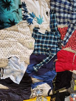 Boys 4t Boy's Clothing Lot Clothes Shirt Collard Button Up Palm Trees Beach Swimsui Trunks Pajamas Mom Trucks 4 Pants Shorts Shirts Surfer Skater for Sale in Irvine,  CA