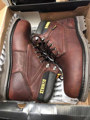 DEWALT Men's Axle Waterproof 6'' Work Boots - Soft Toe - Walnut Pitstop Size 10.5(M) for Sale in Temple City, CA