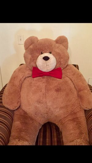$225 Large Teddy Bear with Red Bow Tie 4ft for Sale in Salt Lake City, UT