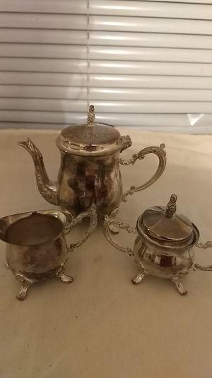 Vintage Godinger Silver 3 Piece Miniature Tea Set for Sale in Lithonia, GA