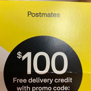 $100 Worth Of Free Postmated Delivery Fees for Sale in Englewood, CO