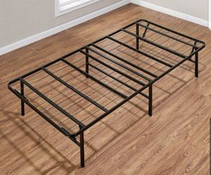 "Open Box Mainstays 14"" High Profile Foldable Steel Bed Frame, Powder-coated Steel, Twin for Sale in Pasadena, CA"